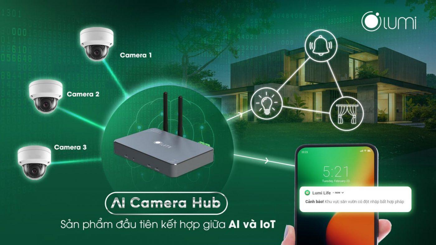 Camera an ninh Lumi Ai Camera Hub